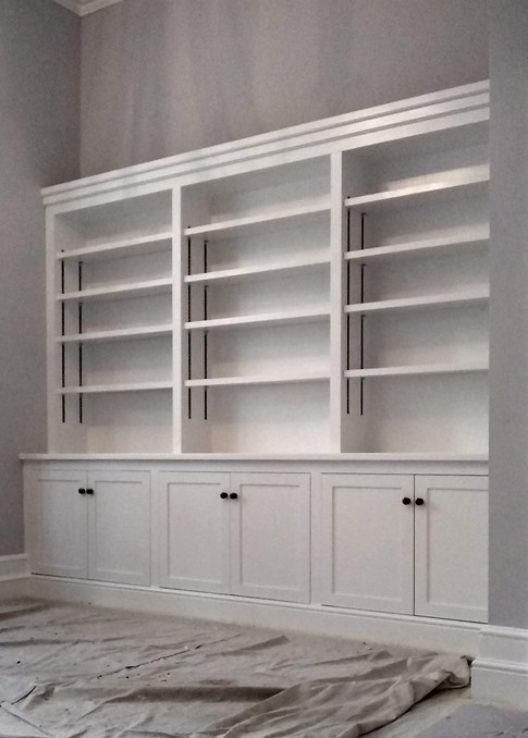 Fitted bookcases & cupboards, North Oxford.