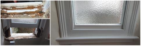 Typical sash window restoration.
