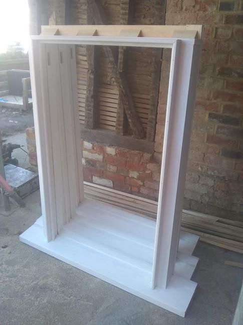 New box frames for original sashes, 17th century timber frame town house,Thame.