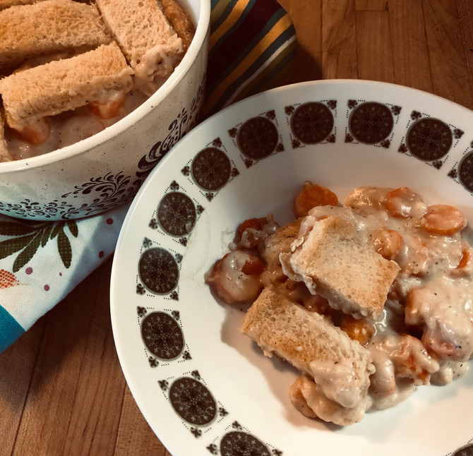 Carrots In Peanut Butter Sauce Casserole? Olive Thought So, Give It A Try!!
