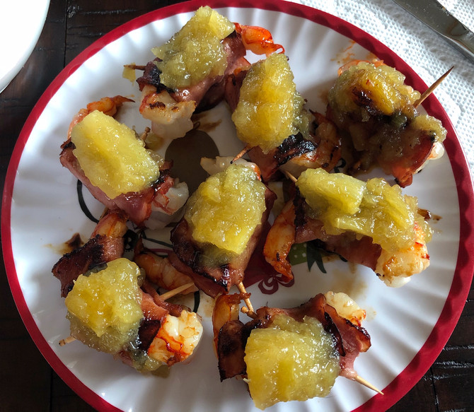 Holiday Party Worthy Turkey Bacon Wrapped Shrimp So Easy!!