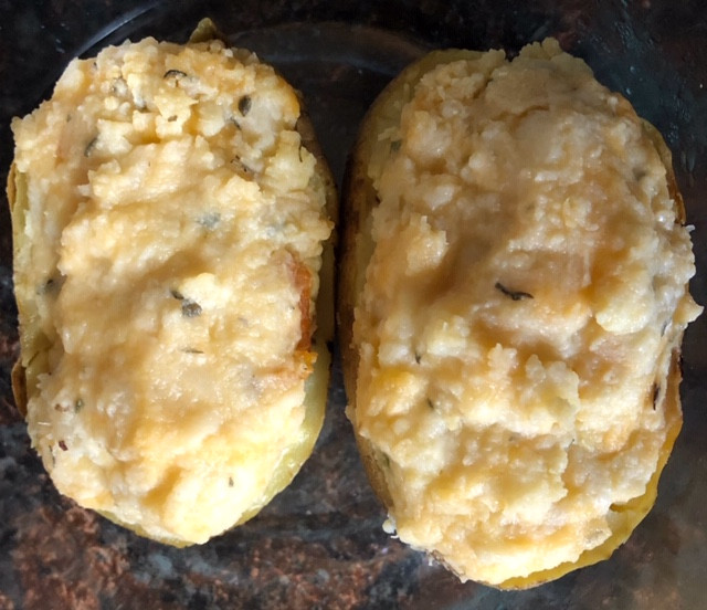 Lightened Up Twice Baked Potato Filling, How? Check it out!!!