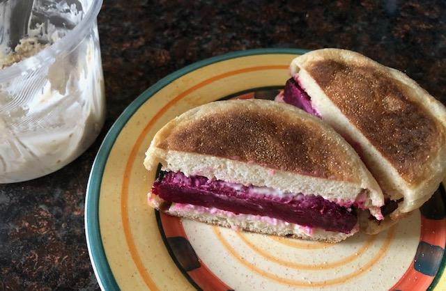 Beet Burger? For This Beet Lover, Yes! Homemade Honey Walnut Cream Cheese? Again, Yes!