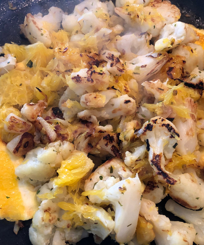 Orange And Cauliflower Combo, No Way, Yes Way!! And So Simple!!