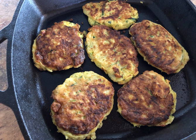 One Bowl Cheese Zucchini Pancakes, Why Wait Until Summer??