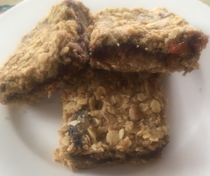 Extra Jam Hanging Out, Try Oatmeal Jam Squares, Soooo Good!