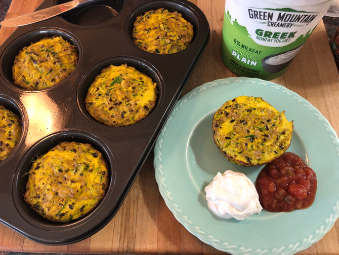Wild Rice, Zucchini, Cheese, Eggs, Not Your Typical Muffin Recipe!! Lunch?