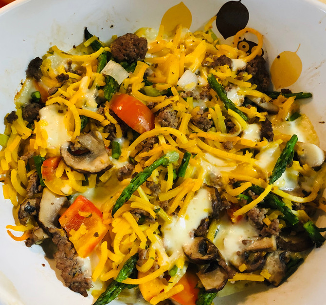 Spring Spiralized Casserole, You Pick The Kind Of Veggie Noodle, Then Create!!