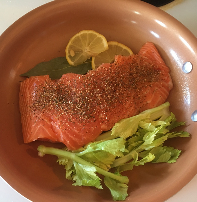 My Atlantic City Inspired Simple Poached Salmon