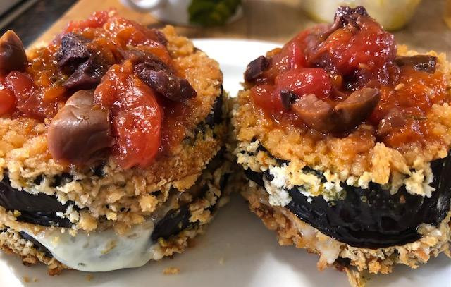 Simple Stacks, Your Choice Of Veggie And How High!! Eggplant Here!