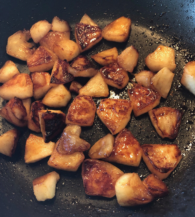 Maple Caramelized Apple Pieces, Sure Thing! Move Over Applesauce For Today!!!