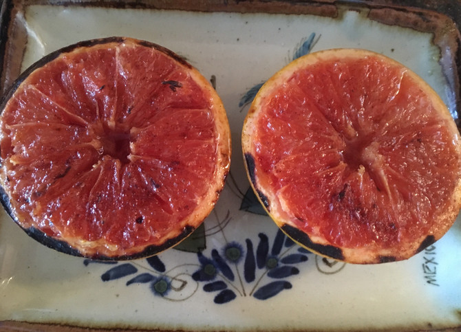 Sometimes The Simplest Things Are The Best, Olives Maple Broiled Grapefruit Memories!