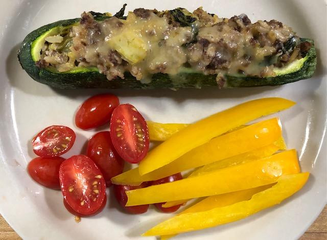 My 3 B's Stuffed Zucchini, I'm Ready For Zucchini, Are You?