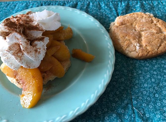 I Am So Dough Challenged Super Fast Peach Shortcake!! (But So What???)