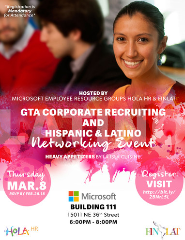 HOLA HR Networking Event Flyer