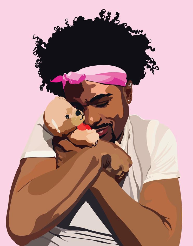 Masculinity Mugshot 2: Precious in a Pretty Pink Mugshot, 2020