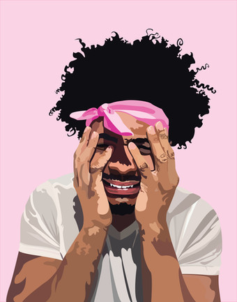 Masculinity Mugshot 1: Pain in a Pretty Pink Mugshot, 2020