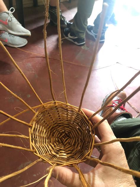 Basketweaving in Filandia, Colombia.