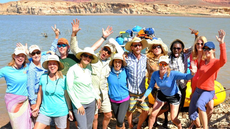 We hit land! Lake Powell, AZ