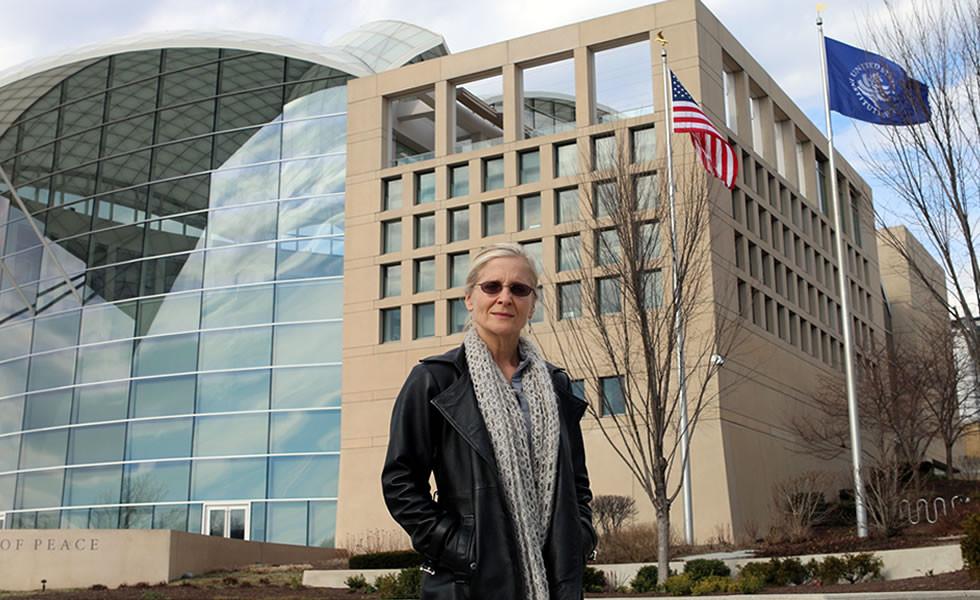 Elizabeth Snyder, PhD, at USIP headquarters in Washington, D.C.