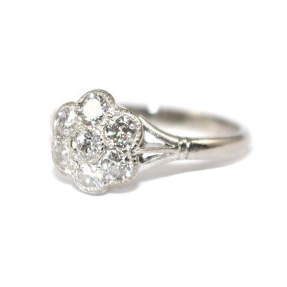 Art Deco Diamond Halo Ring