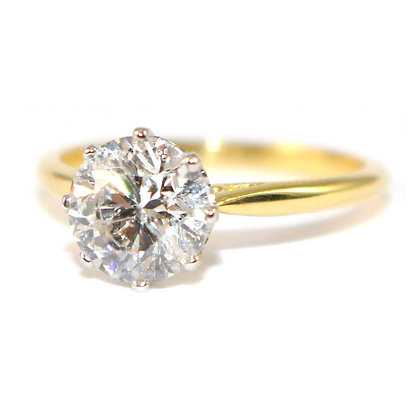Diamond  2.1 carat Solitaire Ring