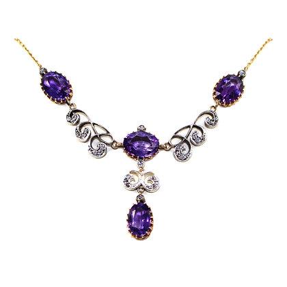 Victorian Amethyst & Diamond Necklace