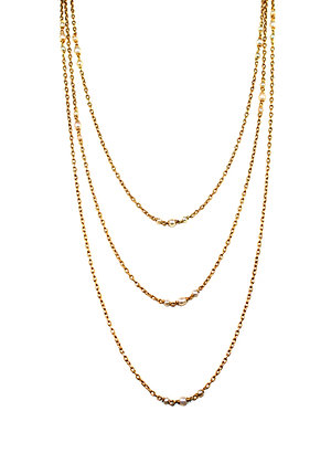 Natural Pearl Gold Chain