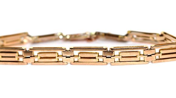Edwardian Gold Link Bracelet