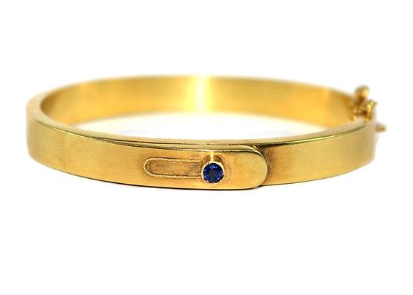 Art Deco sapphire Bangle