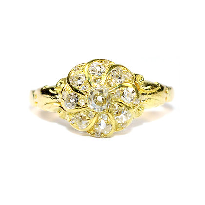 Victorian diamond halo ring