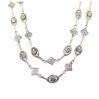 Fancy Silver Guard Chain c.1920