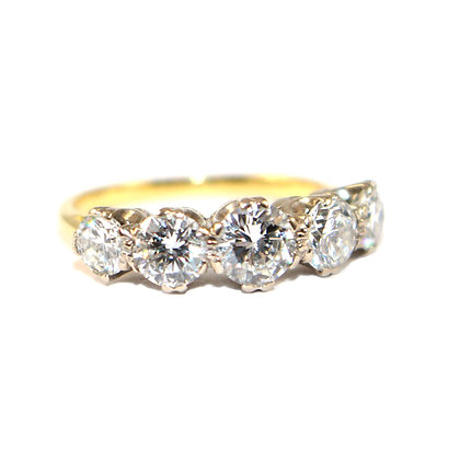 Handmade Diamond 5 stone Ring