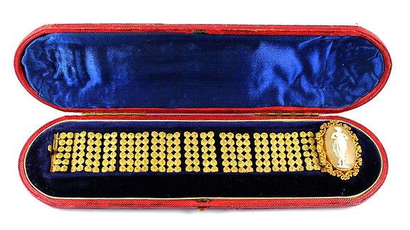 Victorian Cameo gold bracelet c.1860