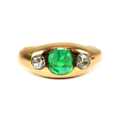Russian Emerald & Diamond Ring