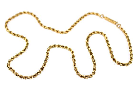 Victorian 15ct Gold RopeTwist Chain c.1900
