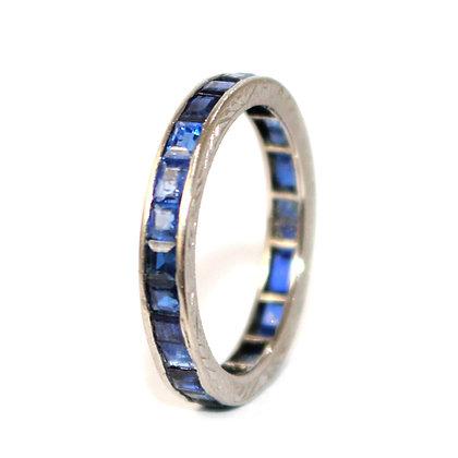 Art Deco Sapphire Full Eternity Ring c.1925 size L