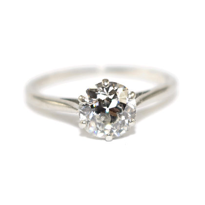 Art Deco old-cut Diamond solitare Ring