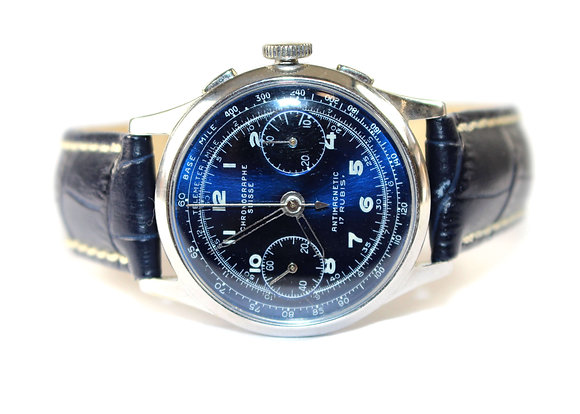 Blue Faced Chronograph Watch