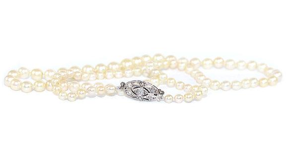 Graduated Pearl necklace Diamond Clasp