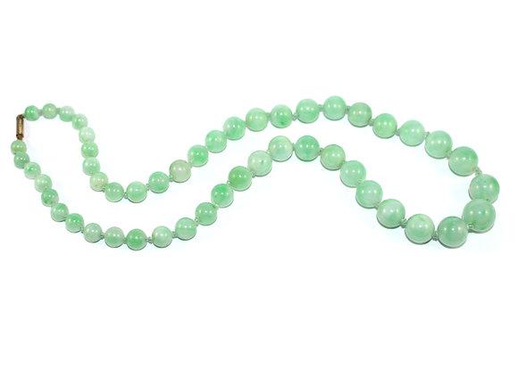 Art Deco Graduated Jade Beads c.1925