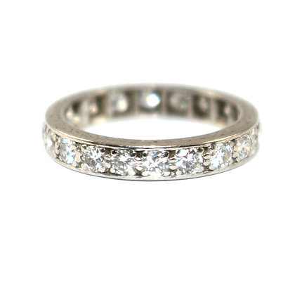 Art Deco Diamond Eternity Ring c.1940 size J
