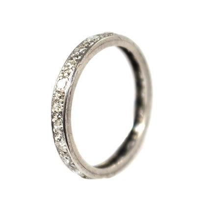 Art Deco Diamond Eternity Ring c.1935 size L 1/2