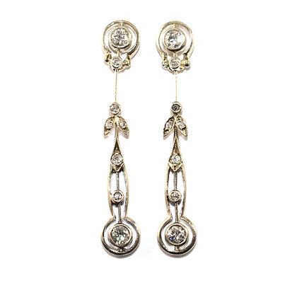 Art Nouveau Diamond Drop Earrings c.1910