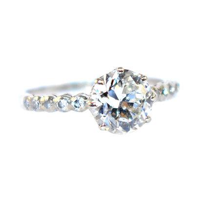 Boodles Art Deco Diamond Solitare Ring c.1940