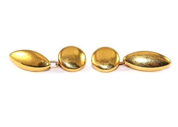 Victorian Gold Torpedo Cufflinks c.1900