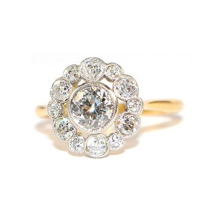 Art Deco Diamond Cluster Ring c.1925