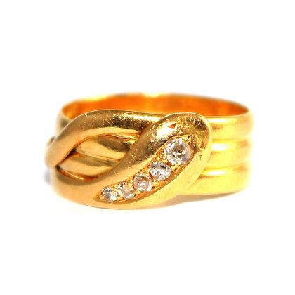 Edwardian Diamond Snake Ring c.1915