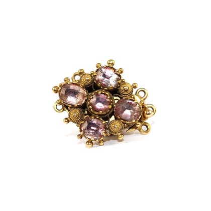 Georgian Pink Topaz Cannitille Work Clasp c.1800