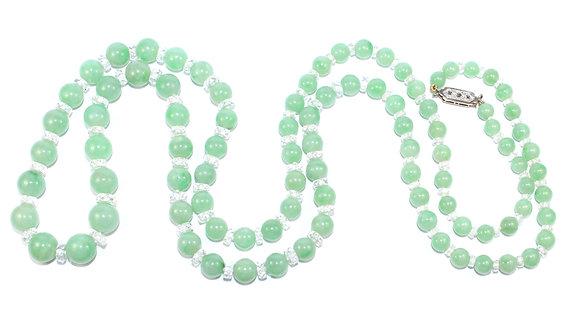 Art Deco Jade Bead Necklace